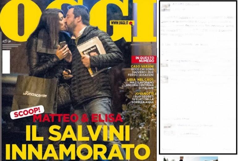 Matteo Salvini bacia la Isoardi: