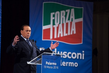 Italy: Silvio Berlusconi meets his supporters in Palermo