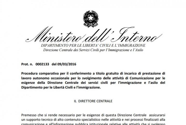 Il Ministero Dell 39 Interno Cerca Un Giornalista Gratis