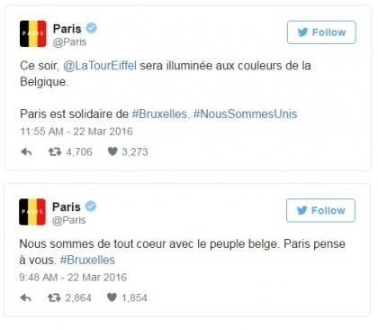 bandiera belgio foto profilo attentato bruxelles