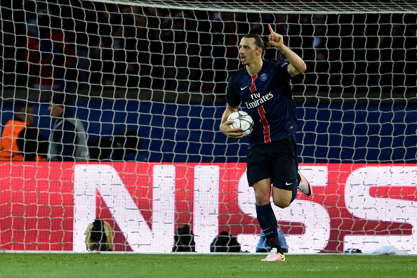 Gol Ibrahimovic Paris Saint-Germain-Manchester City