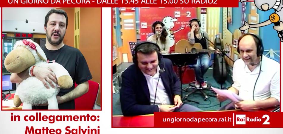 Matteo Salvini contro Berlusconi un giorno da pecora