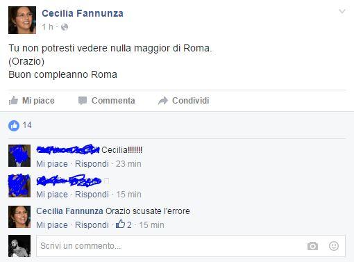 cecilia fannunza pd roma