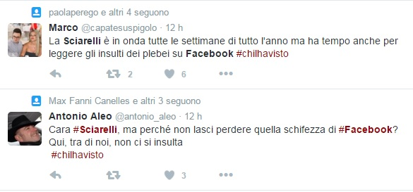 federica sciarelli risponde commenti facebook video chi l'ha visto
