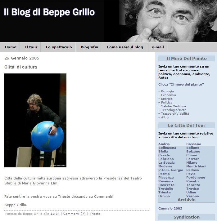 gianroberto casaleggio beppe grillo.it 2005