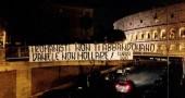 Striscioni Daniele De Santis Roma