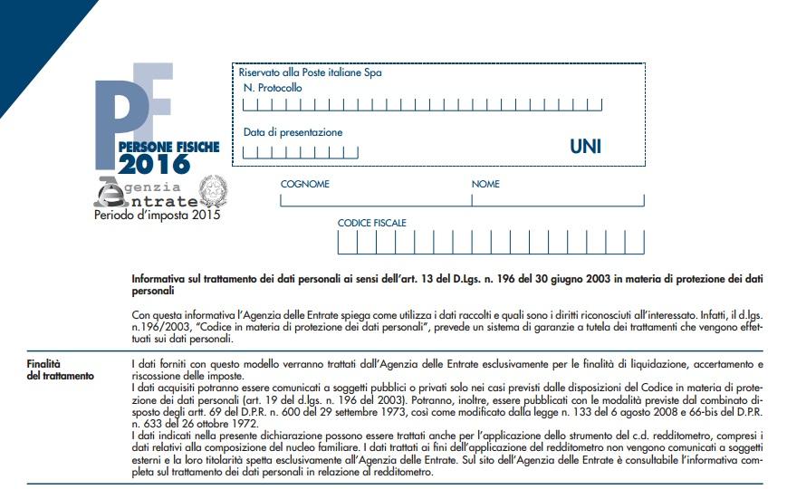 dichiarazione dei redditi 2016 scadenza come si fa online
