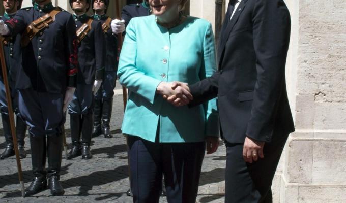 Matteo Renzi Angela Merkel