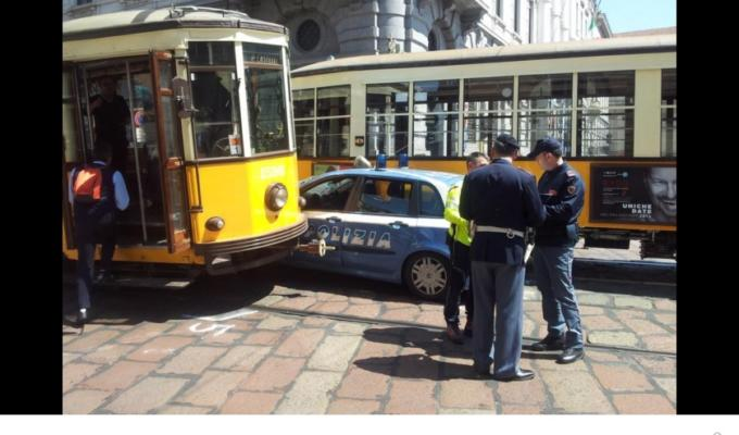 Milano tram incidente polizia