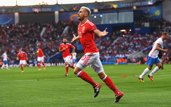 Russia-Galles 0-2 video gol highlights ramsey taylor