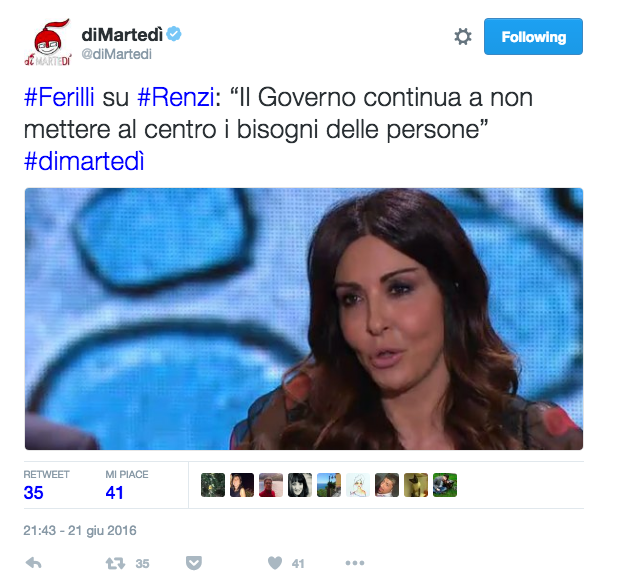 Ferilli contro Renzi: