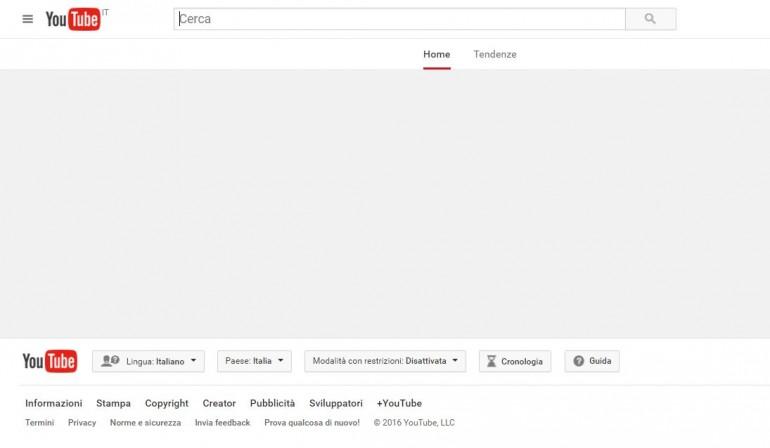 Youtube down giornalettismo for Youtube oggi