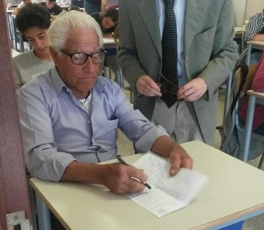 Antonio Pugliese 81 anni esami di terza media