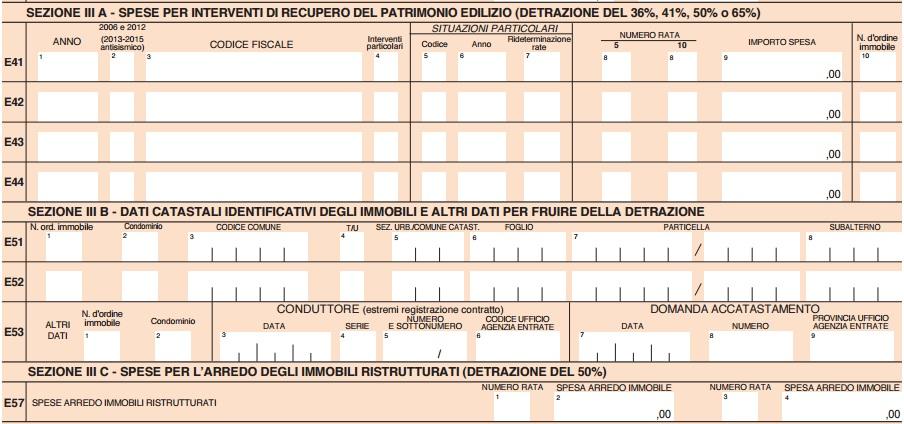 Dichiarazione dei redditi 2016 le detrazioni for Spese arredo immobili ristrutturati