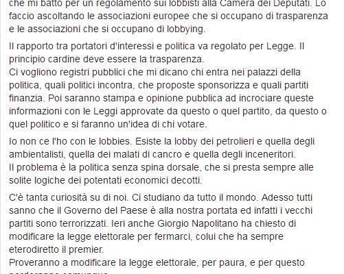 Luigi Di Maio lobby malati cancro