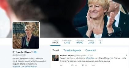 Turchia Colpo di stato golpe militari Turchia Pinotti Tweet