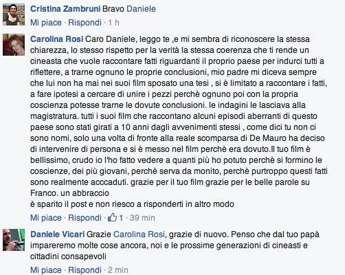 Vicari censurato Diaz Facebook
