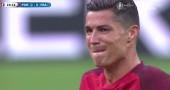 Il pianto di Cristiano Ronaldo durante la finale degli Europei | VIDEO