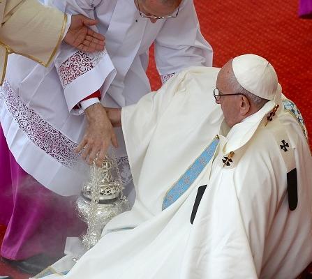 papa francesco cade