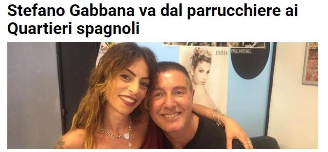 Stefano Gabbana parrucchiere Quartieri Spagnoli