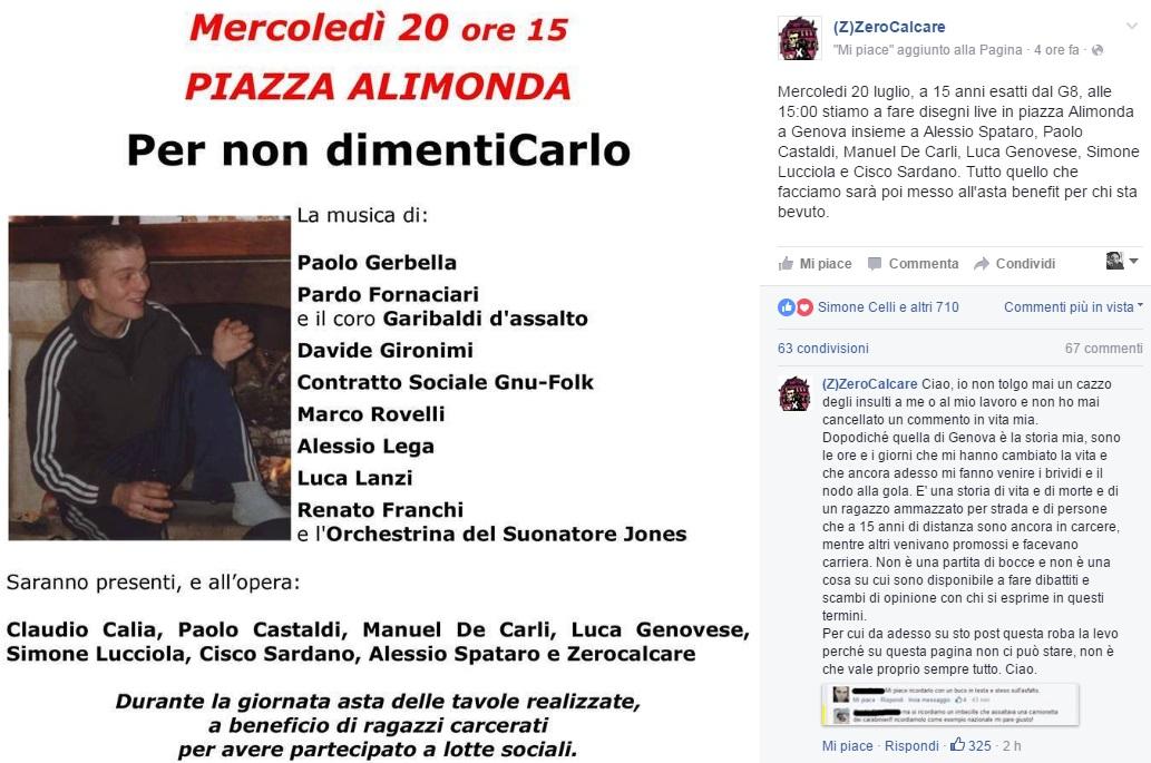Carlo Giuliani: 15 anni fa ucciso durante il G8 Genova COMMENTA
