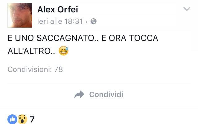 Alex Orfei omicidio facebook