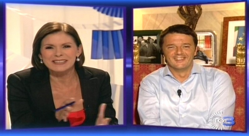 Bianca Berlinguer Matteo Renzi congresso PD