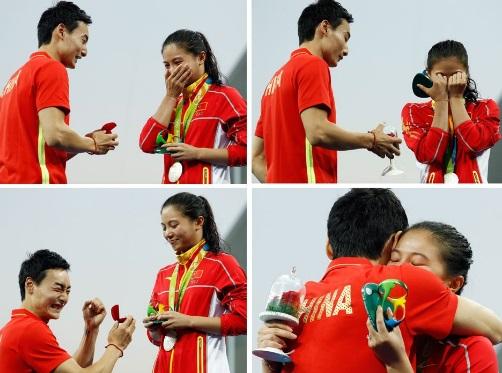 He Zi proposta matrimonio tuffi Rio 2016