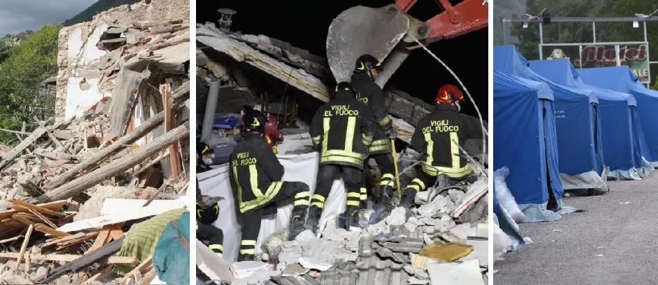 Terremoto 24 agosto 2016 Rieti