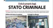 Libero prima pagina profughi in palestra