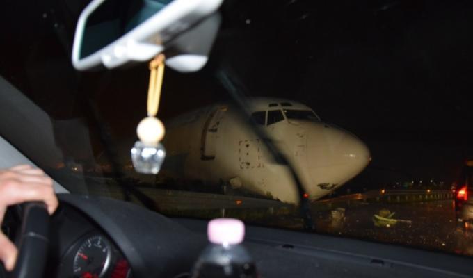 aereo fuori pista bergamo orio al serio