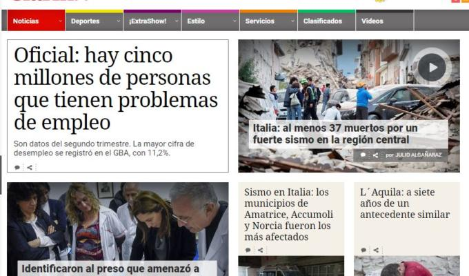 terremoto oggi giornali stranieri