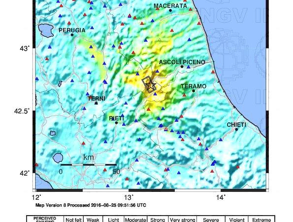 magnitudo 6 terremoto Amatrice