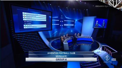 sorteggio gironi champions league juventus diretta live