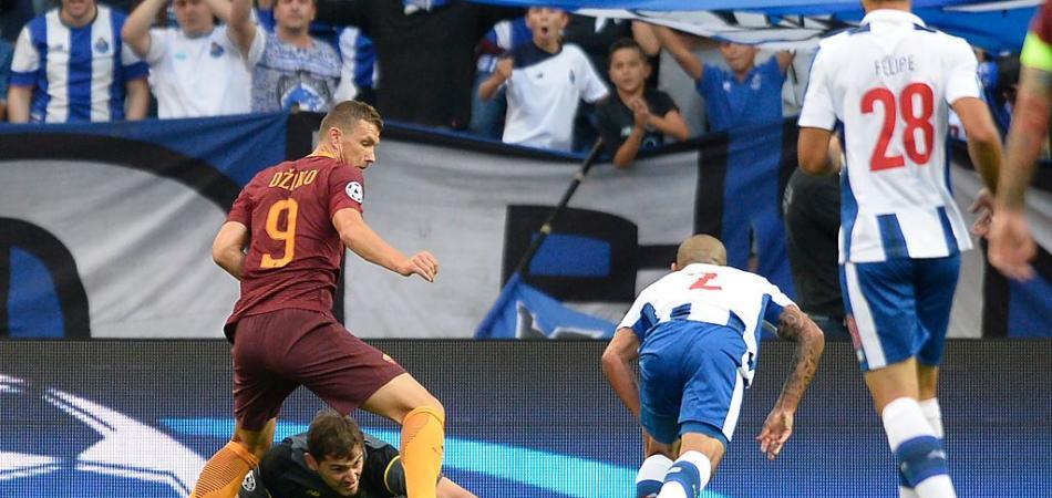 Porto Roma 0-1 gol della Roma autogol felipe