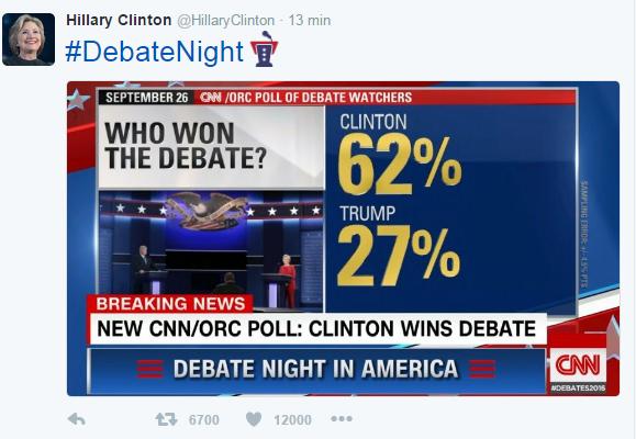 Donald Trump Hillary Clinton dibattito TV risultato