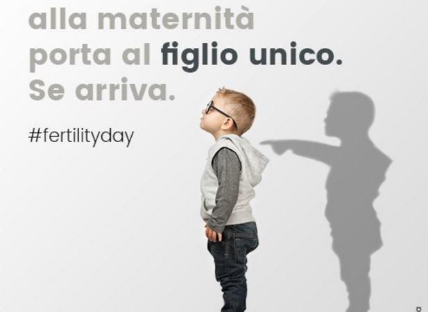 FERTILITY DAY CARTOLINA FIGLIO UNICO