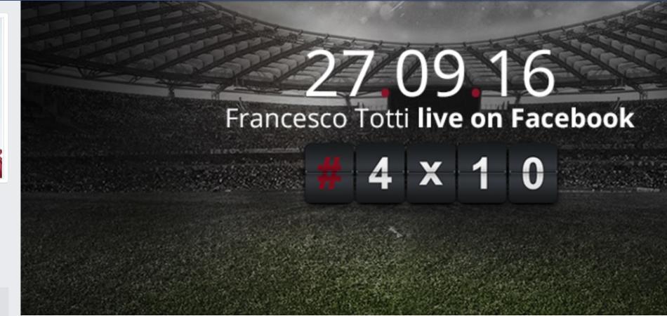 Francesco Totti pagina Facebook ufficiale
