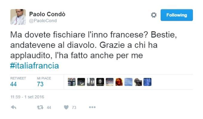 Italia-Francia fischi marsigliese