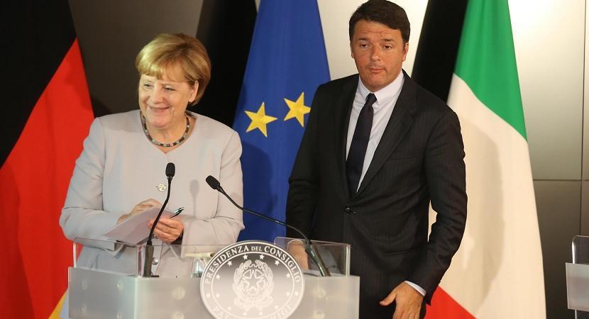 Matteo Renzi Angela Merkel Ferrari