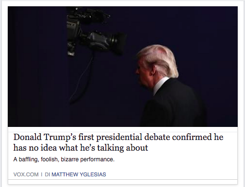 New Yotk Times condivide su FB articolo Vox