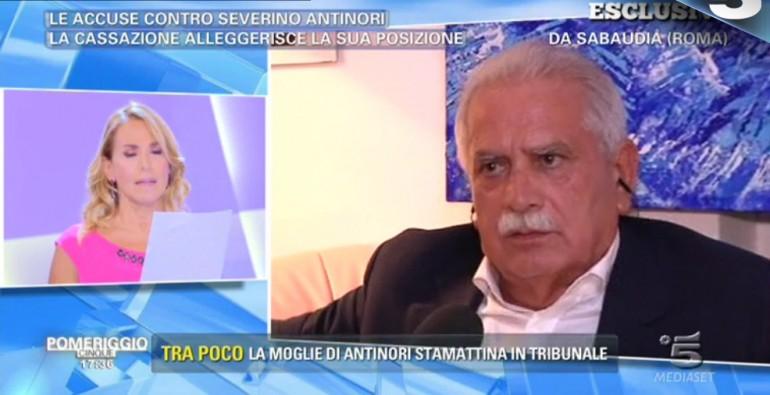 Severino Antinori - Barbara D'Urso: insulto in diretta