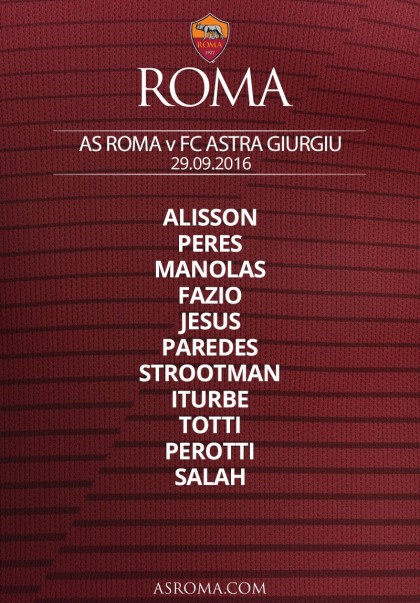 roma-astra giurgiu diretta