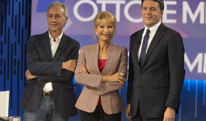 Marco Travaglio Matteo Renzi Otto e mezzo