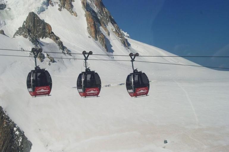 Paura in alta quota sulla cabinovia del Monte Bianco