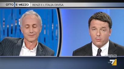 Otto e mezzo: Renzi contro Travaglio su La7: il video