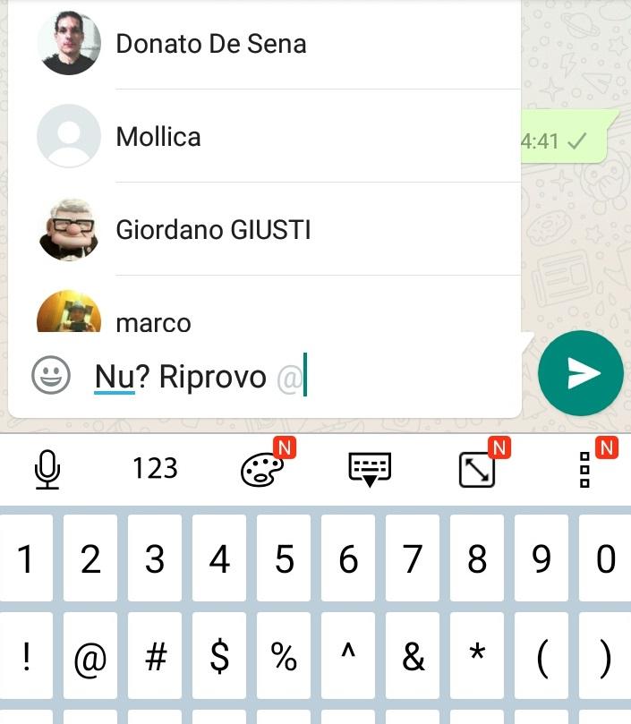WhatsApp ora permette di citare gli utenti nelle chat di gruppo