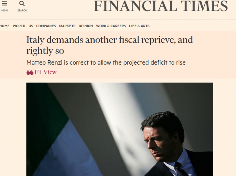 Matteo-Renzi-Financial-Times-editoriale