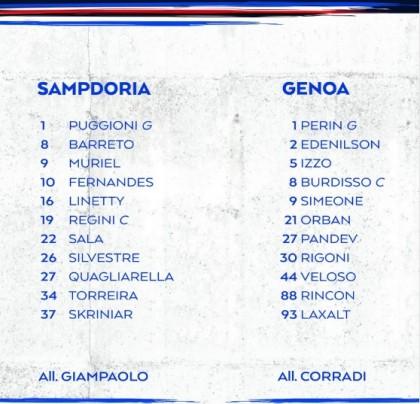 Sampdoria-Genoa live