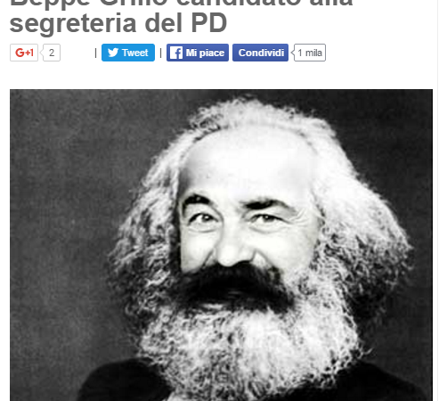 Beppe Grillo segretario PD